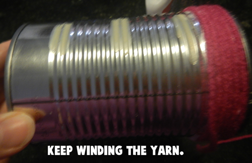 Keep winding the yarn.
