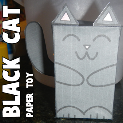 black-cat-paper-foldable-toy-first-pic