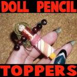 how to make doll pencil toppers for back to school