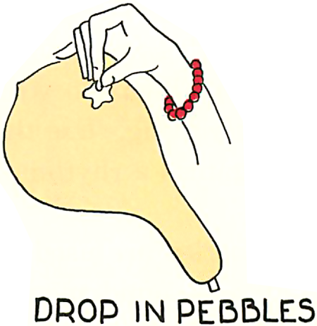 Drop in pebbles.