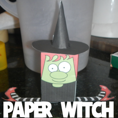 Paper Witch Toy for Halloween
