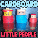 How to Make Cardboard Little People Figures