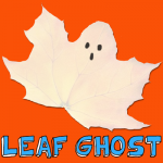 How to Make Leaf Ghosts for Halloween
