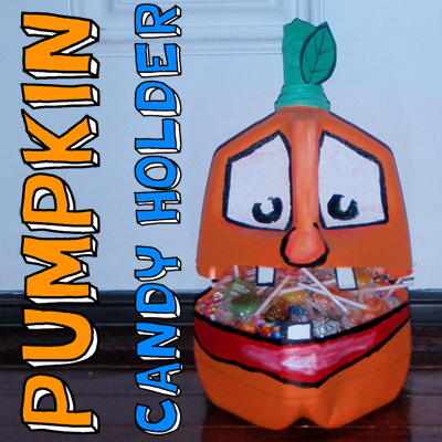 How to Make a Pumpkin Milk Jug Candy Holder