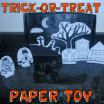 How to Make a Trick-or-Treat Paper Toy