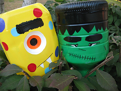 14 Spooky Halloween Crafts using Milk Jugs