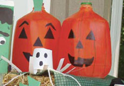 Milk Jug Pumpkins