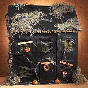 Haunted house crafts perfect for halloween kids crafts for Spooky haunted house ideas