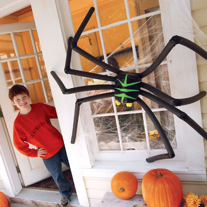 its super awesome and super big i love it it will be a wonderful halloween decoration this season it is sure to creep out all who see it