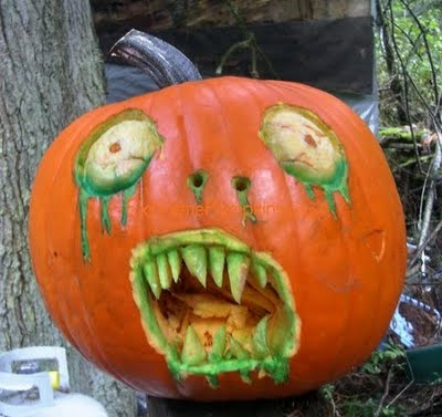 Zombie Jack-O-Lantern