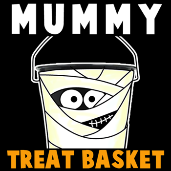 Mummy Trick-or-Treat Baskets