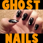 How to Make Glow in the Dark Ghost Nails for Halloween