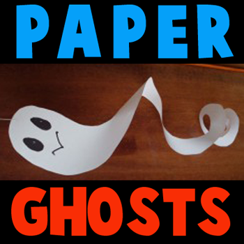 How to make Paper Ghosts for Halloween