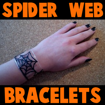 How to Make Spider Web Bracelets for Halloween
