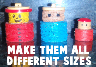 Make them all different sizes.