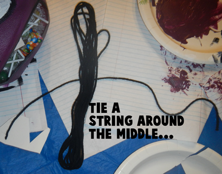 Tie a string around the middle