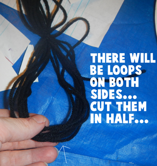 There will be loops on both sides... cut them in half