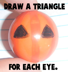 Draw a triangle for each eye.