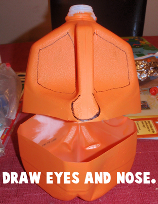 Draw eyes and nose.
