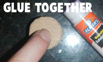 Glue together.