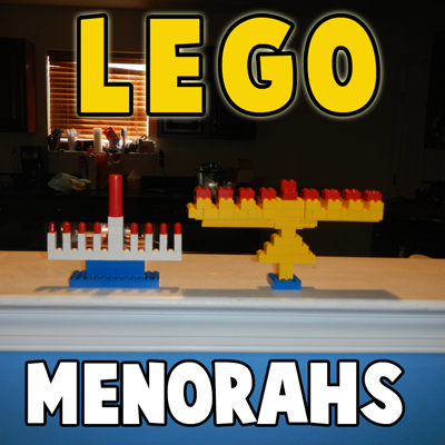 Ideas for Making a Lego Hanukkah Menorah