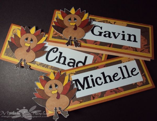 Fun Turkey Place Cards
