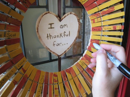 Thanksgiving Clothespin Wreath
