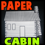 How to Make Paper Log Cabins for Thanksgiving