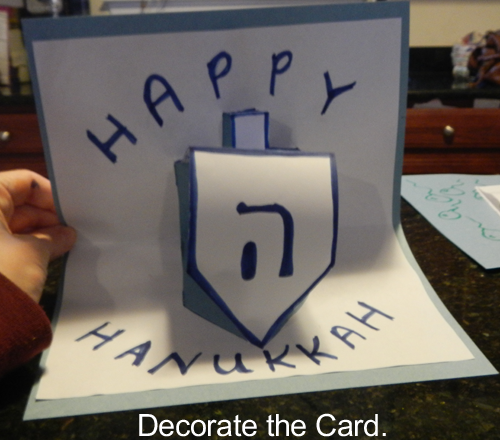 Decorate the card.