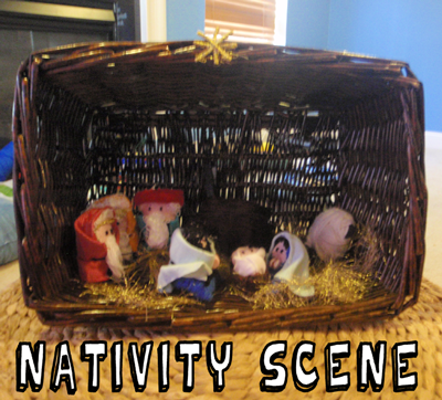 Basket Nativity Scene