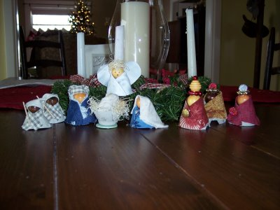 Egg Carton Nativity Scene