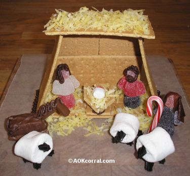 Gingerbread Nativity Scene