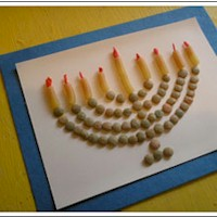 Macaroni Menorah Craft