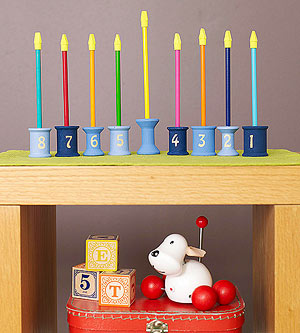 Spool Menorah