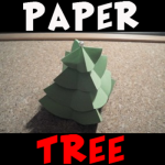 How to Make a Paper Christmas Tree Craft for Children Tutorial