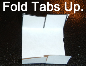 Fold tabs up.