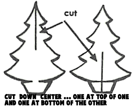 Cut down center... one on top of one and one at bottom of the other.