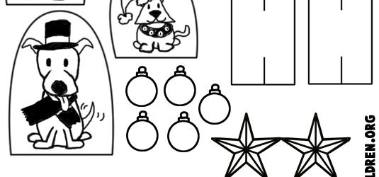 Christmas Tree Extras Template