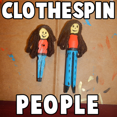 How to Make Clothespin People Figures