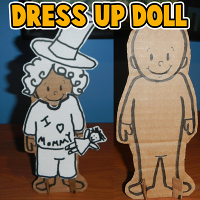How to Make a Stand-Up Dress-Up Doll