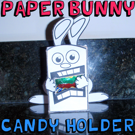 How to Make a Free Printable Paper Easter Bunny Candy Holder