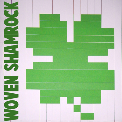 Pixelated Shamrock with Paper Weaving Craft for Saint Patricks Day