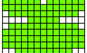Pixelated Shamrock Template