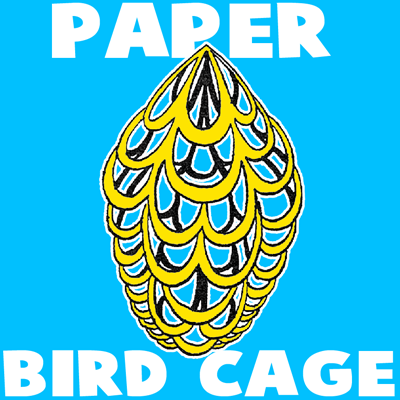 How To Make A Paper Bird Cage Craft Idea For Kids Kids Crafts
