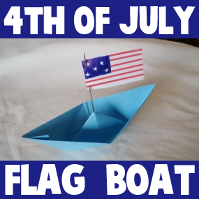 How to Make a 4th of July Patriotic Flag Boat