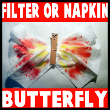How to Make Coffee Filter or Napkin Butterfly