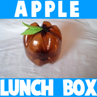 How to Make Apple Lunch Boxes with Recyled Plastic Soda Bottles