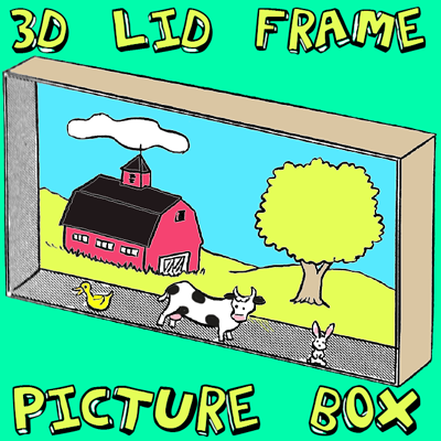 How to Make 3d Box Cover Framed Pictures