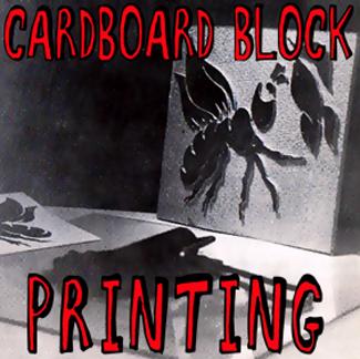 Block Printing for Kids : Making Block Prints from Cardboard