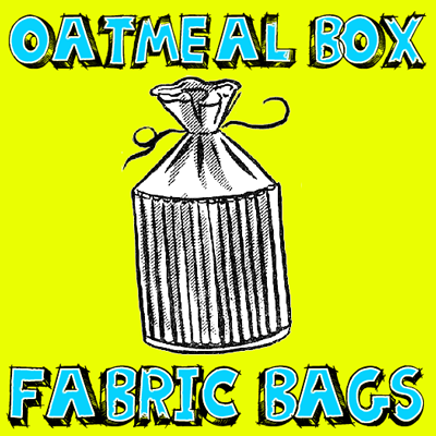 How to Make Fabric Oatmeal Container Drawstring Bags